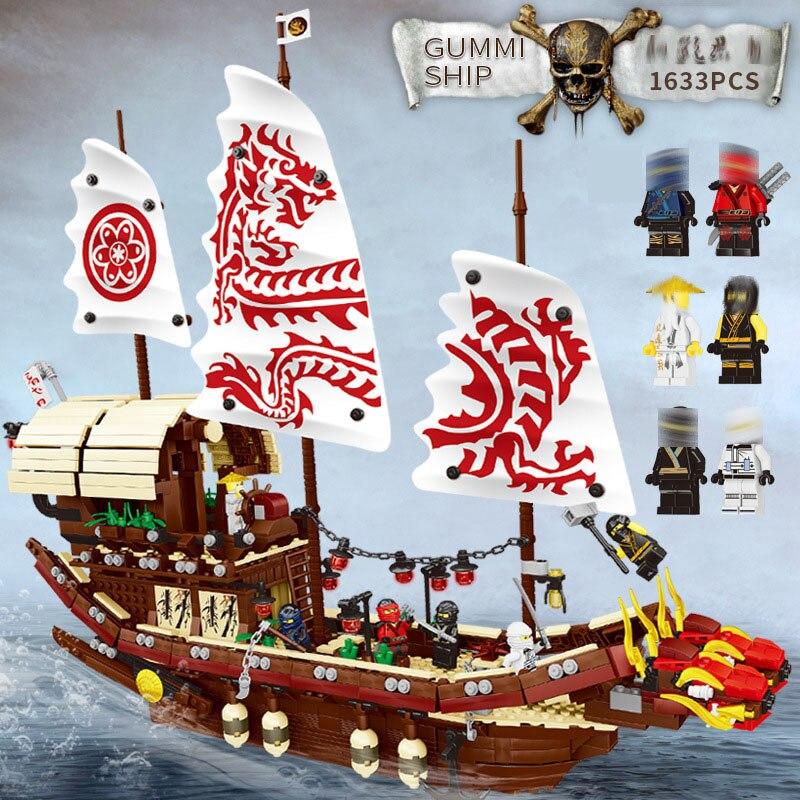 bela 10723 Ninjagos The Destiny's Bounty Model Building Blocks set Compatible 70618 classic ship education Toys for children