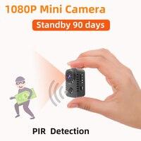 Minicámara PIR con detección de movimiento, videocámara de baja potencia HD 1080P, Sensor de visión nocturna, DVR, Micro deporte, pequeña
