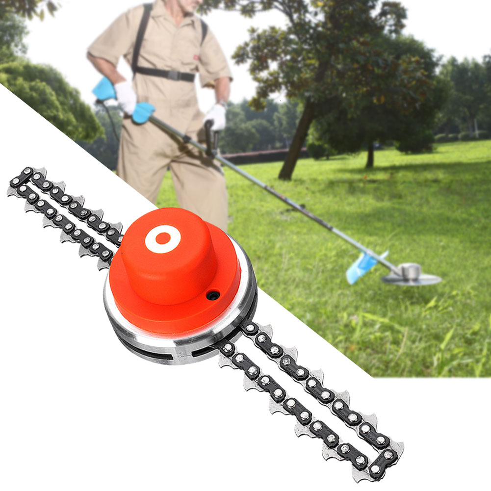 Universal Grass Trimmer For Lawn Mower Chain Trimmer Head Chain Brush Cutter Garden Spare Tools Grass Cutter Trimmer Head