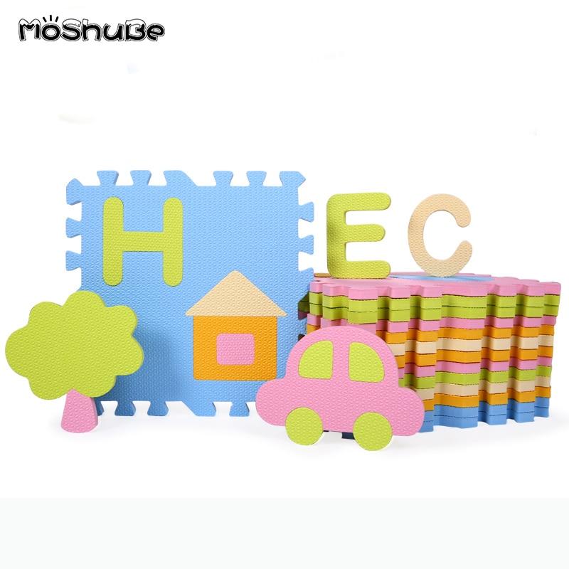 Épais bébé ramper Puzzle tapis bébé jouer tapis enfant escalade PE EVA mousse 30*30*1.3cm Interlock exercice jeu tapis de sol jouets