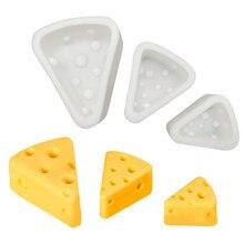 3D формы для тортов в форме сыра, силиконовая форма для мусса, шоколада, помадный десерт форма для выпечки печенья, инструменты для украшения ...