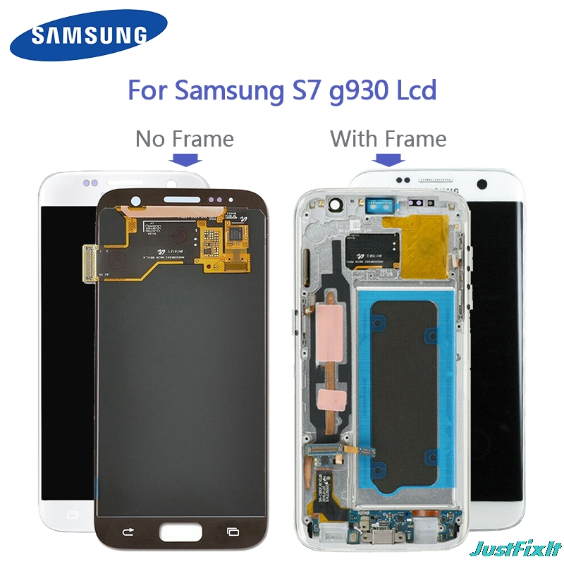 100% original For <font><b>SAMSUNG</b></font> <font><b>GALAXY</b></font> <font><b>S7</b></font> <font><b>G930F</b></font> G930A <font><b>LCD</b></font> <font><b>Display</b></font> Touch Screen Digitizer Super Amoled Replacement image