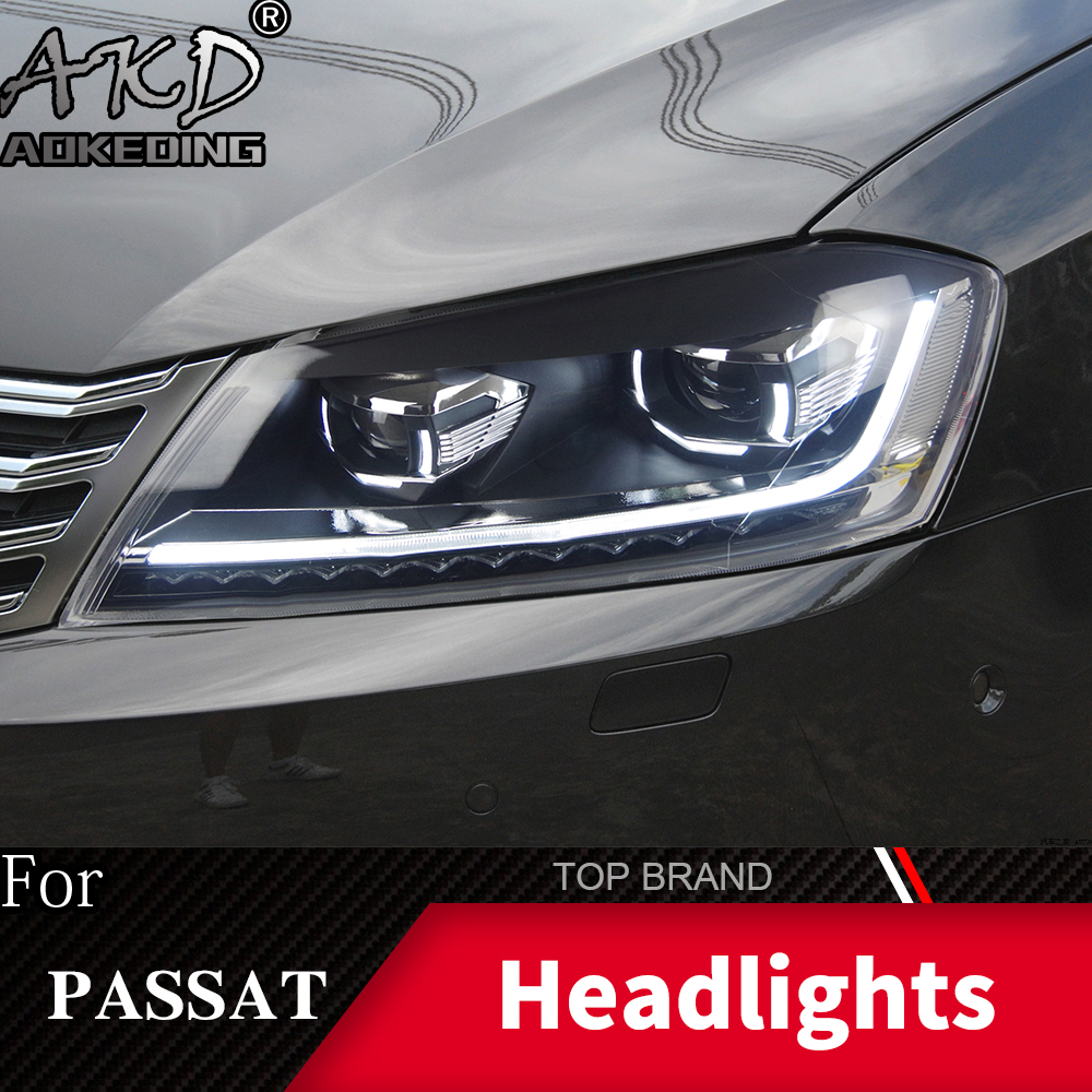 Head Lamp For Car VW Passat B7 2012 2016 Magotan Headlights Fog Lights Daytime Running Lights DRL H7 LED Bi Xenon Bulb Accessory - 6