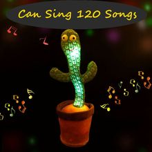 Cactus Plush Plushie Cute Kawaii Soft Plants Dancing Singing English Songs Swing Answer Read Lighting Baby Educational Kids Toys