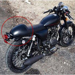 Stylish Motorcycle ABS Rear Seat Cowl Cover Casing for Retro Cafe Racer Durable ABS Plastic
