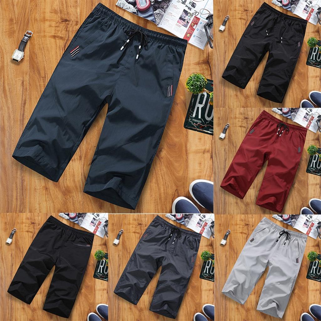 Shorts Beachwear Men шорты мужские Gym Clothing Outdoor Fast-drying Recreational Sports Capri Pants Beach Trousers Free Ship