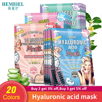 HEMEIEL Hyaluronic Acid Moisturizing Korean Face Mask Collagen Sheet Mask Acne Treatment Facial Mask Skin Care Korean Cosmetics 1