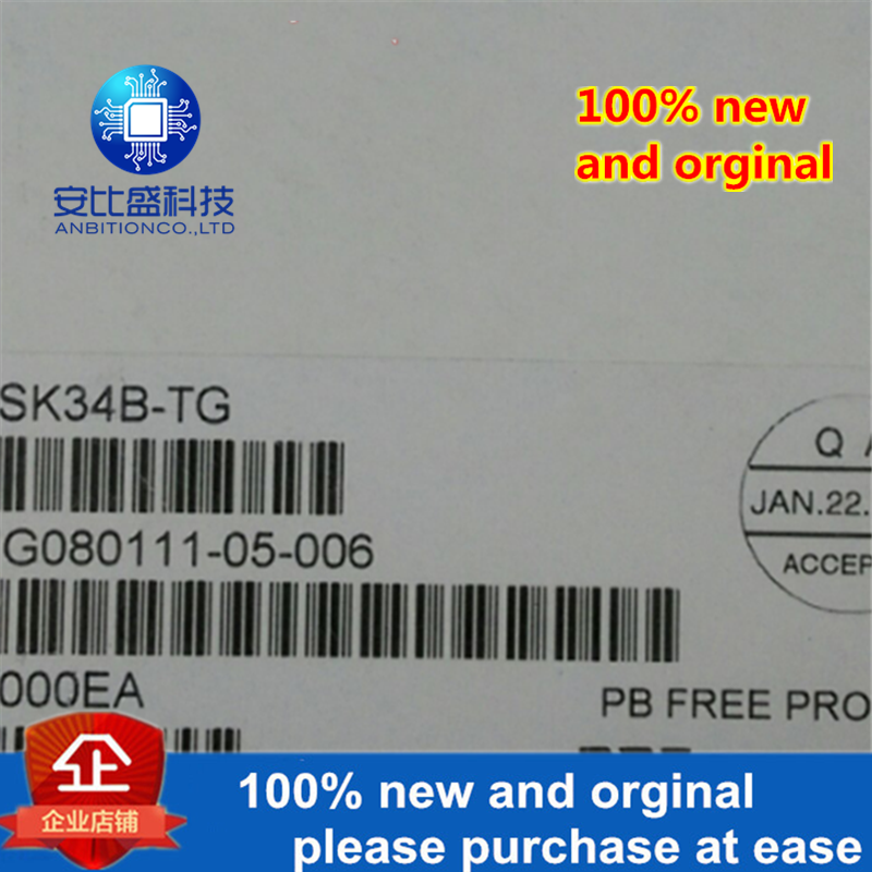 50pcs 100% New And Orginal SK34B DO214AA Silk-screen SK34B In Stock