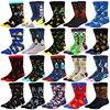 Fashion Glücklich Astronaut Alien Socken mann jungen Damen Mädchen Baumwolle Weiche Sox Schöne Kurve Männer Lustige Frauen Kunst Socken