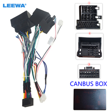 LEEWA Car Audio Raddio 16PIN Android Power Cable Adapter With Canbus Box For Porsche Cayenne CD/DVD Player Wiring Harness #6554