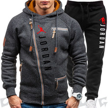 New Tracksuit Suit Men's Spring Autumn Sets Zipper Hoodie+pants Two Pieces Casual Tracksuit Male Sportswear Brand Clothing Sweat