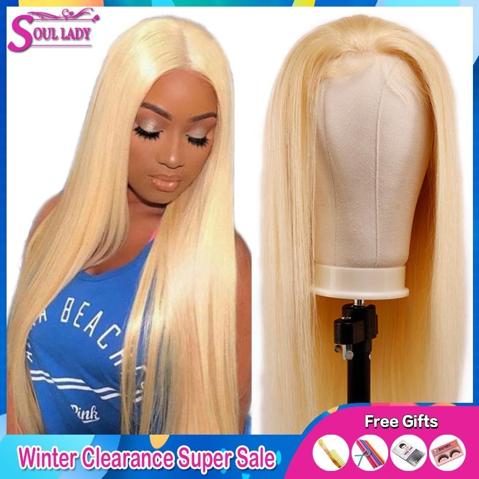 613 Honing Blonde Lace Front Pruik 13X4 Lijmloze Rechte Kant Voor Pruik 180% Braziliaanse Remy Menselijk Haar Transparante hd Lace Pruik - 6