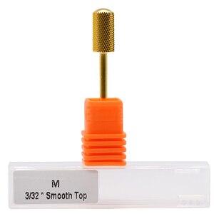 """Image 4 - Maohang 10 pçs/lote 3/32 """"carboneto de ouro broca do prego fresa para manicure elétrica pedicure máquina dispositivo ferramenta remover gel"""