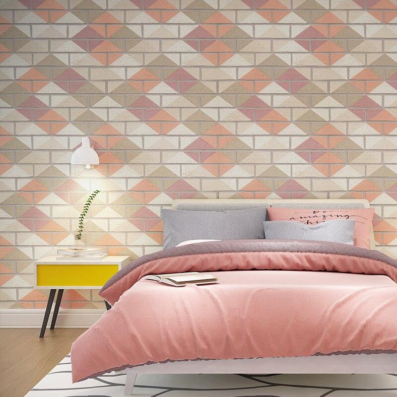 3D stéréo fantaisie moderne élégant coloré brique papier peint salon chambre étude salle à manger fond papier peint rouleau