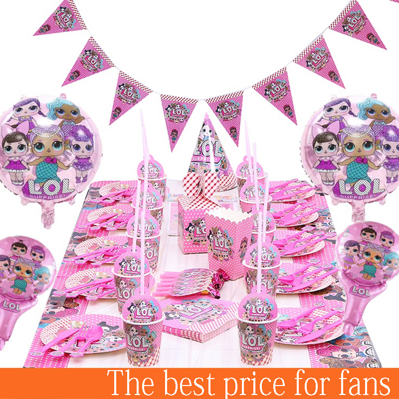 LOL Surprise Dolls Original Lol Party Lols Dolls Themes Supplies For Girl's Birthday Gifts