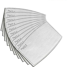 10pcs PM2.5 הופעל פחמן מסנן להחלפה אנטי אובך מסנן נייר לילדים למבוגרים מסכה