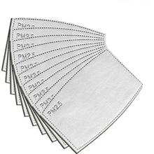 50 stücke PM 2,5 Aktivkohle Filter Austauschbare Anti Dunst Filter Papier für Kinder Erwachsene Maske
