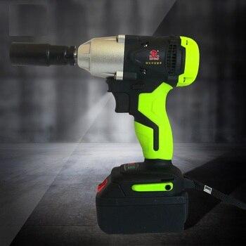 цена на 8000mAh 12000mAh Electric Wrench Wireless 340Nm 1/2 Brushless Impact Wrench Cordless Socket Wrench Power Tool Professional