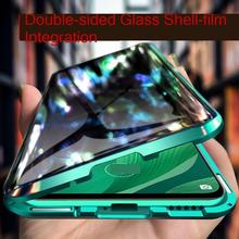 Magnetic Metal Frame Case On Huawei Honor 20 9X P30 P40 P20 Mate 30 20 Lite Nova 5T 7 Pro Clear Hard Shockproof Back Cover