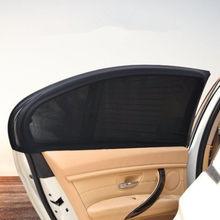 2 sztuk/zestaw osłony przeciwsłoneczne do samochodu ochrona UV osłony przeciwsłoneczne na szyby samochodowe osłona przeciwsłoneczna do samochodu boczna szyba Mesh osłona przeciwsłoneczna ochrona letnia folia okienna