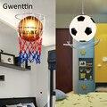 Баскетбол Футбол подвесные светильники для детской комнаты Подвесная лампа для спальни современный светодиодный фонарь светильники Лофт ...