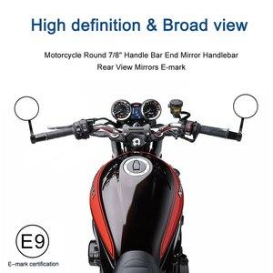 "Image 2 - บาร์รถจักรยานยนต์ End กระจก Universal กระจกมองหลัง CNC อลูมิเนียม7/8 ""22Mm สำหรับ KAWASAKI NINJA 400 Z650 Z750 z800 Z900 MT09 07"
