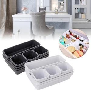 8Pcs Drawer Organizer Box Plastic Home Drawer Dividers Box Office Kitchen Bathroom Closet Jewelry Makeup Desk Organization Tool