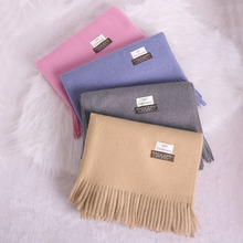 2019 Kaguster Winter Scarf Blanket Shawl Extra Long Warm Cashmere Soft Women Solid Color Scarves with Tassel Lady Spring Autumn