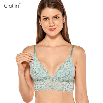 GRATLIN Breastfeeding Maternity Nursing Bras Lace Pregnant Women Underwear Breast Feeding Bra 1