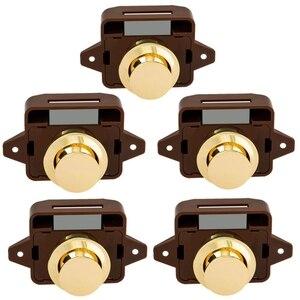 5 шт. кнопочный замок для дверного замка без ключа для шкафа RV Caravan, лодочный мотор для домашнего шкафа, коричневое золото