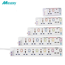 Multiprise 1/2/3/4/5 voies ca prises universelles prise de courant avec USB commutateur individuel rallonge Protection contre les surtensions/surcharges