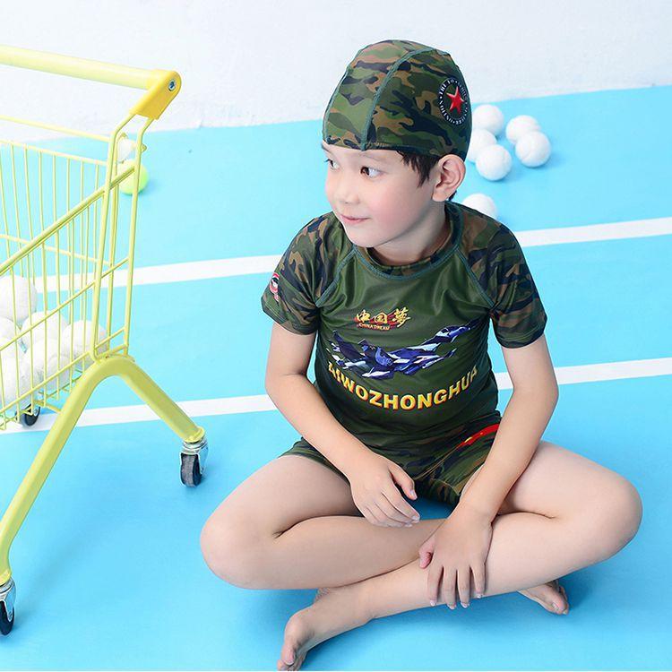 Children Two-piece Swimsuits BOY'S Swimming Trunks Set Boy Quick-Drying Split Type Tour Bathing Suit Children Male Baby Swimwear