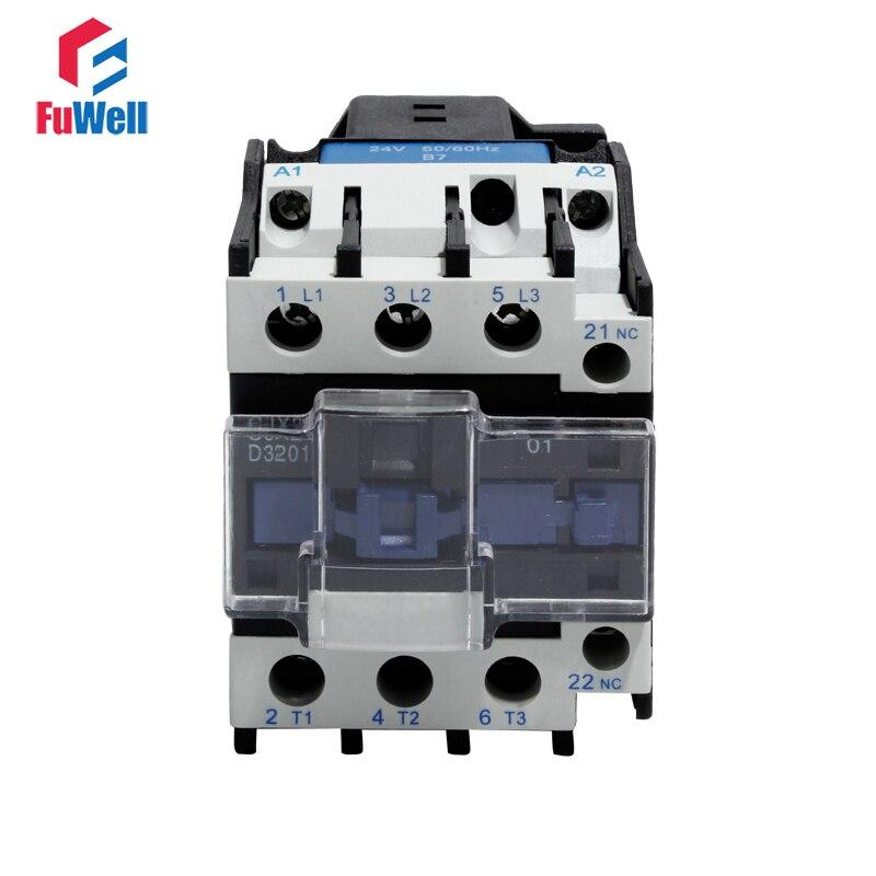 CJX2-3201 NC AC Contactor 32A Normal Closed Coil Voltage Contactor 24V 36V 48V 110V 220V 380V Alternating Current Contactor