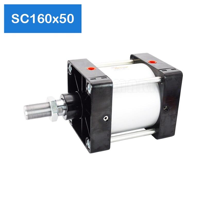 Cylindre d'air standard SC160x50 livraison gratuite, alésage 160mm, course 50mm, cylindre pneumatique à double effet unipolaire SC160 * 50