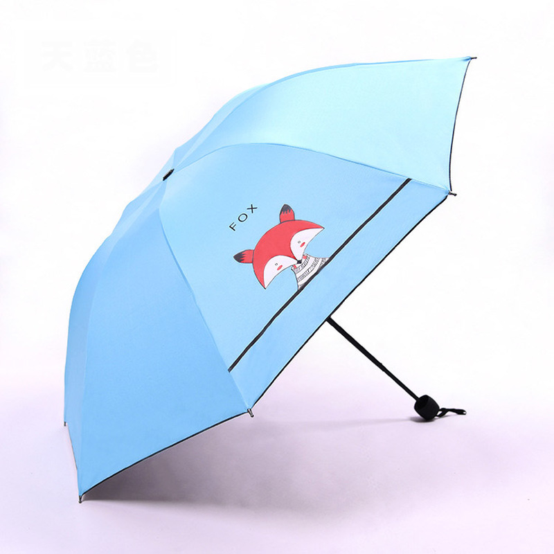 Children's Umbrella Cute Little Fox Parasol Sunscreen 1