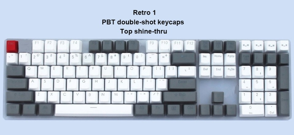 Color : Retro 2 Keyboard keycaps 104-key Retro Keycaps Vintage Keycaps Dolch RGB Keycaps Double-Shot Top Shine-Through Switches Mechanical Keyboard