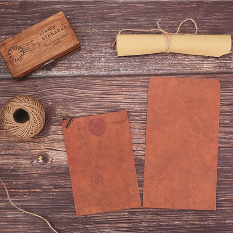 Creative Vintage Envelope 10Pcs/set Creative Kraft Paper Envelopes DIY Decorative Envelope Small Paper School Office Supplies