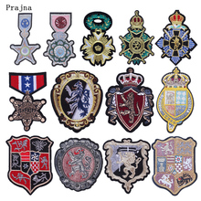 Prajna Badges Patches Iron On Embroidered For Clothing Stripes DIY Stickers Jeans Repairing Accessories Decor