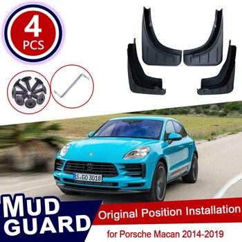Para Porsche Macan 2014 ~ 2019 Mudflaps Mud Flaps Flap Respingo Guardas Fender Roda Dianteira Traseira Do Carro Acessórios 2015 2016 2017 2018