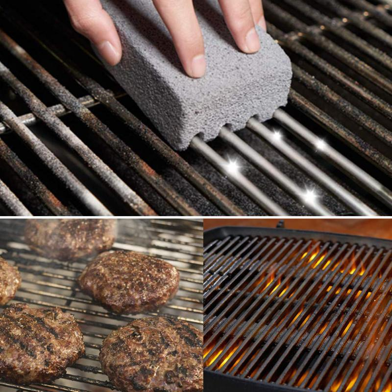 3Pcs BBQ Grill Cleaning Brick Block Barbecue Cleaning Stone BBQ Racks Stains Grease Cleaner BBQ Tools cleaning stone dropship 1