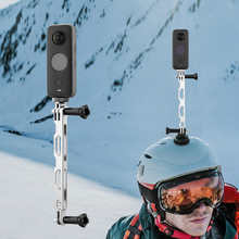Kask Selfie uzatma kol sopa kutup Insta360 bir X2/X panoramik kamera standı dağı spor kamera aksesuarları