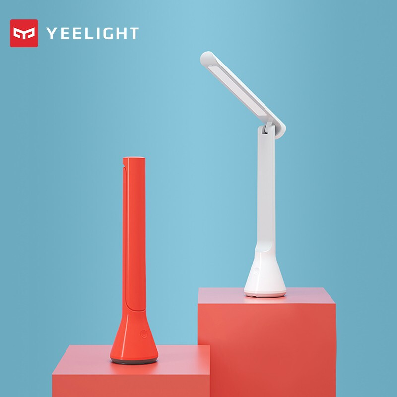 YEELIGHT USB Folding Charging Small Table Lamp Portable Desk Lights 40 Hours Lasting Three Dimmer Adjustable Eye Protection