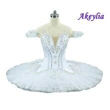 Free Shipping White Platter Tutu Women Sugar Plum Fairy Professional Dance Costume Adult Ballerina Stage Dress
