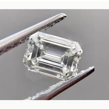 Gemas cortadas de moissanita para anillo, gemas cortadas de Esmeralda, Color D, 6x8mm, VVS1, 100%