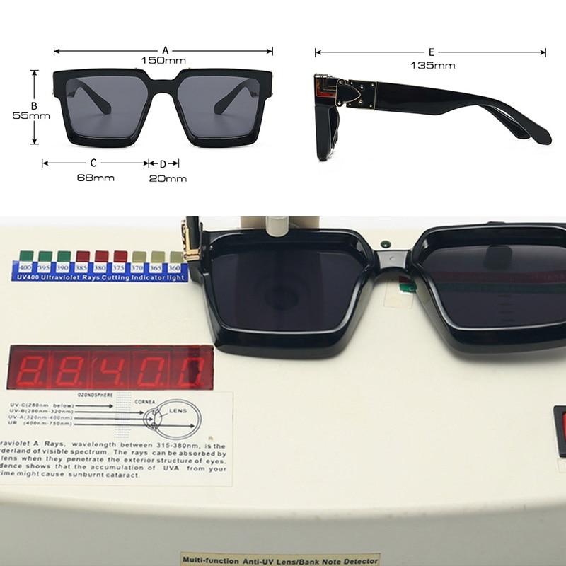 Retro Square Sunglasses Women Ins Popular Sun Glasses Men UV400 4