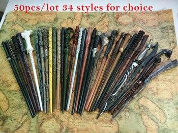 50 Pcs/Lot MR Potter Narcissa Black Malfoy Ron Weasley Hermione Granger COS Magic Magical Wand Wizard Christmas Gift Magic Stick