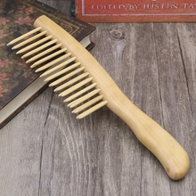 Natural Sandalwood Hair Comb Handmade Wooden Detangling Wide Tooth