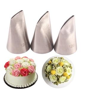Image 1 - #124K #125K #126K 3Pcs Rose Pastry NozzlesชุดหัวฉีดสแตนเลสDIY Icing pipingเคล็ดลับชุดCupcakeเค้กตกแต่งเครื่องมือ