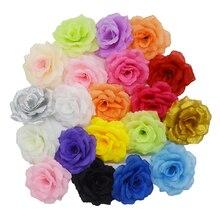 Yoshiko 50 adet 8cm yapay gül ipek çiçekler düğün ev bahçe DIY hediye noel dekorasyon sahte çiçekler öpüşme top
