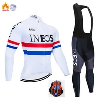 2020 INEOS Cycling team JERSEY 20D bicycle pants set Clothing Cycling man winter thermal fleece pro Bicycle jersey Maillot wear